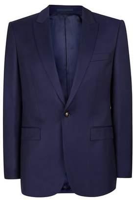 Topman Mens CHARLIE CASELY-HAYFORD X Blue Twill Skinny Wedding Suit Jacket
