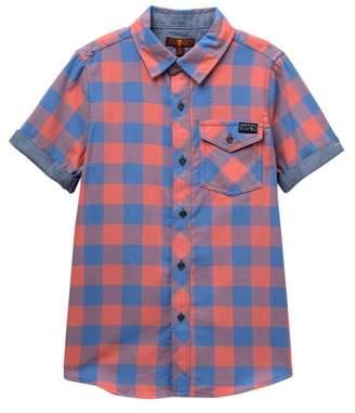 7 For All Mankind Short Sleeve Roll Cuff Shirt (Big Boys)