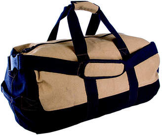 STANSPORT Stansport Two-Tone Canvas Duffle Bag with Zipper - (14x 24)