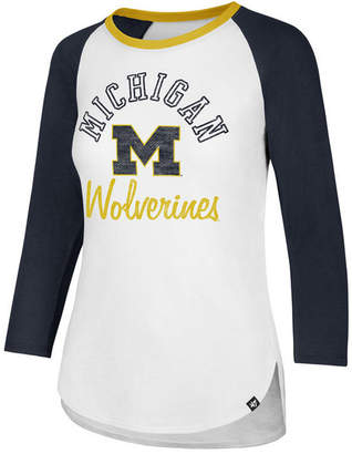 '47 Women Michigan Wolverines Script Splitter Raglan T-Shirt