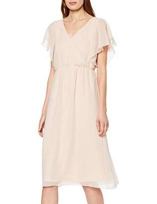 c9a370bb90 Vila CLOTHES Women's Viflara S/s Dress/dc, Pink Rose Smoke, 8