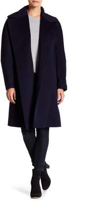 Fleurette Oversized Collar Wool Coat