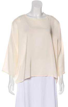 eskandar Silk Long Sleeve Blouse Silk Long Sleeve Blouse