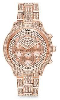 Michael Kors Runway Chronograph Rose Goldtone Stainless Steel Watch