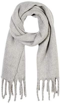 Women Grey Blanket Scarf Tassel Winter Warm Brushed Muffler Long Shawl Wrap