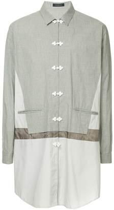 John Undercover contrast panel long shirt