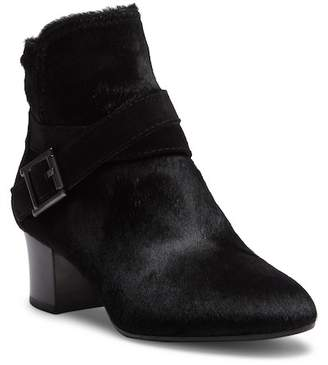 Aquatalia Francique Genuine Dyed Calf Hair and Suede Ankle Boot