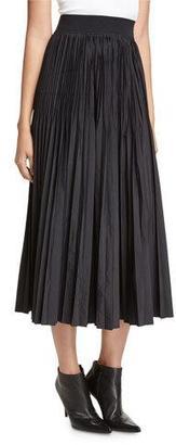 DKNY Pleated Midi Skirt, Black $398 thestylecure.com