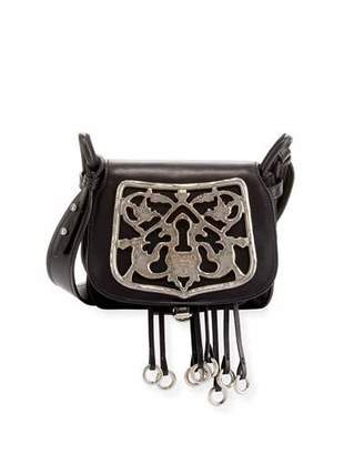 Prada Corsaire Leather Shoulder Bag with Metal Key Lock