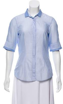 Brunello Cucinelli Button-Up Short Sleeve Blouse
