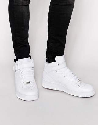 Nike Force 1 Mid '07 Sneakers In White 315123-111