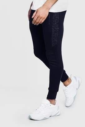 Skinny Fit Cut And Sew Panelled Jogger