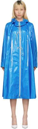 Calvin Klein Blue Drawstring Tent Coat
