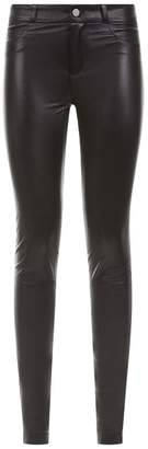 SET Ankle Zip Leather Trousers