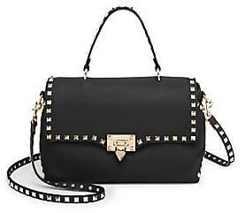 Valentino Women's Medium Rockstud Leather Top Handle Bag