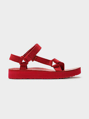 Teva New Womens Midform Universal Sandals In Red Womens