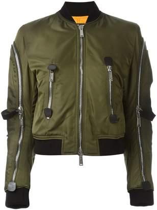 DSQUARED2 strap detail aviator jacket