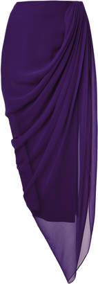 Prabal Gurung Tisese Draped Silk Skirt