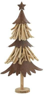 Cole & Grey Wood and Metal Xmas Tabletop Tree