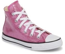 Converse R) Glitter High Top Sneaker