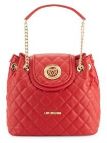 Love MoschinoDiamond-Quilted Shoulder Bag