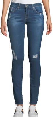 AG Jeans Rev Super-Skinny Distressed Crop Jeans