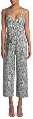 L'Agence Jaelyn Snakeskin Print Jumpsuit