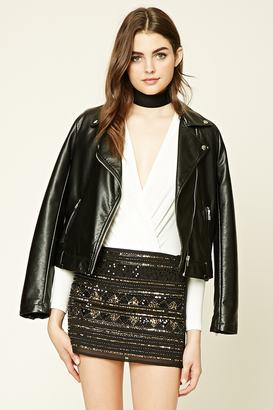 FOREVER 21+ Geo Pattern Sequin Skirt $27.90 thestylecure.com