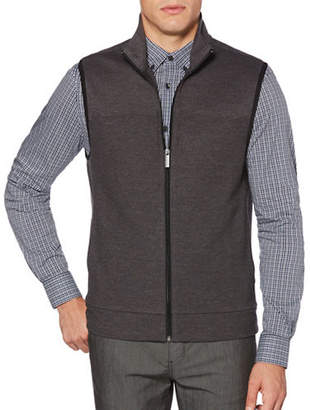 Perry Ellis Cotton-Blend Zip Vest