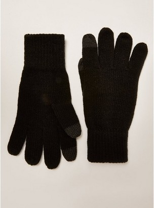 Topman Mens Black Touchscreen Gloves