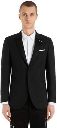 Neil Barrett Extra Fine Wool Gabardine Tuxedo Jacket