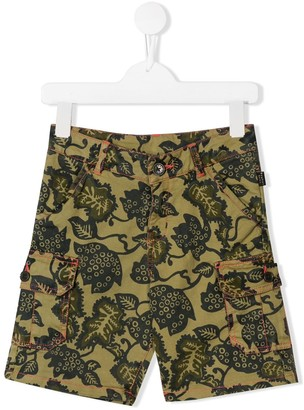 Little Marc Jacobs leaf print shorts