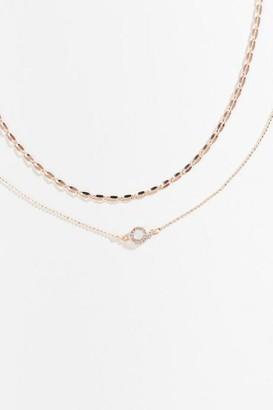 francesca's Claressa Delicate Choker - Rose/Gold