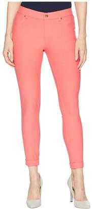 Hue Clouded Floral Essential Denim Skimmer Women's Casual Pants