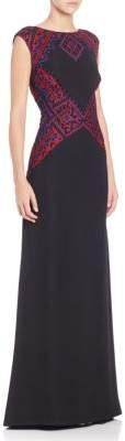 Tadashi Shoji Woven Applique Fit & Flare Dress