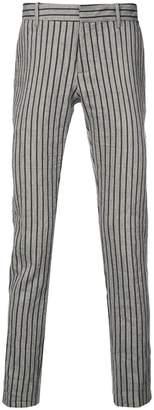 Tom Rebl striped skinny trousers