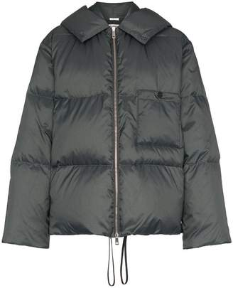 Jil Sander long sleeve hooded puffer jacket