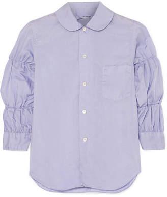 Comme des Garcons Shirred Poplin Blouse - Violet