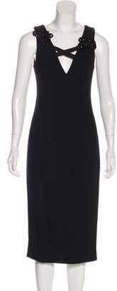 Creatures of the Wind Embellished Sleeveless Midi Dress w/ Tags