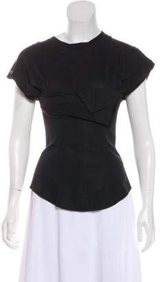 Alexander Wang Short Sleeve Bustier Top
