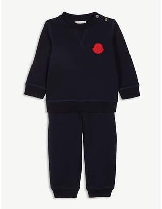 Moncler Logo patch cotton-blend tracksuit 3-36 months