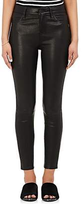L'Agence Women's Adelaide Leather Skinny Pants - Noir