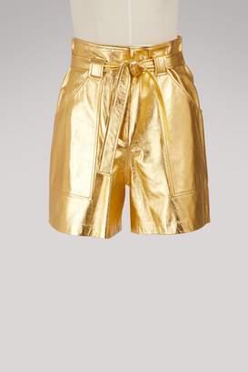 Vanessa Seward Frida leather shorts