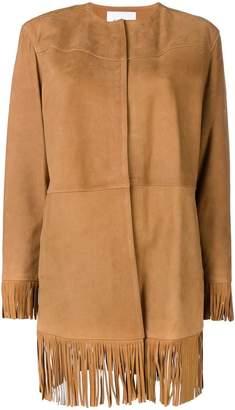 Frame fringed edges jacket