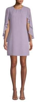 BCBGMAXAZRIA Ruffled Cape-Sleeve Mini Dress