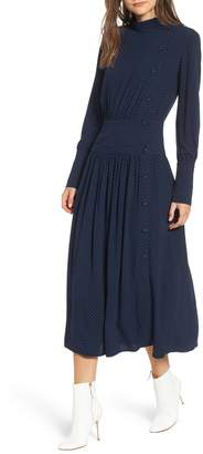 Chelsea28 Side Button Midi Dress