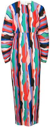 SOLACE London colour-block maxi dress