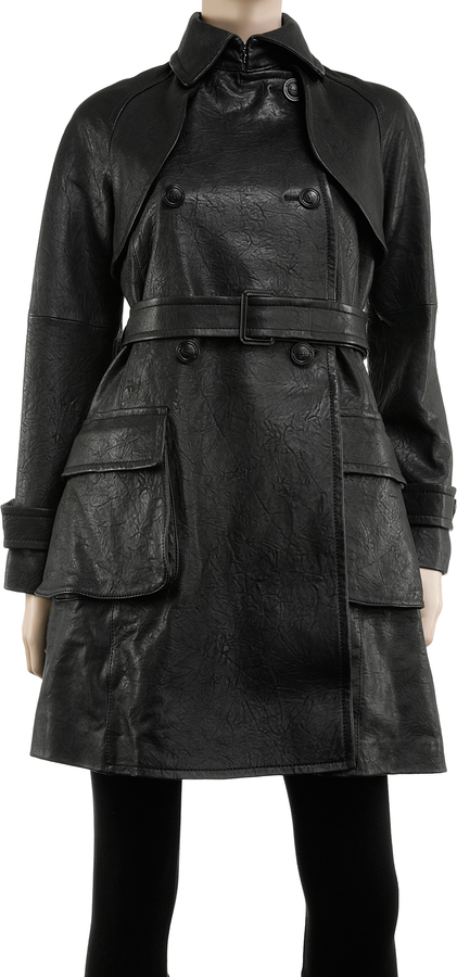 Washed Lamb Trench Coat