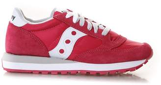 Saucony Jazz Sneakers Color Red In Nylon & Suede