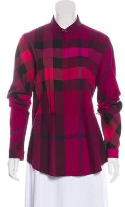Burberry Printed Collared Top